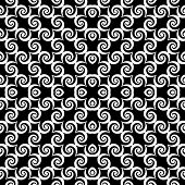 Design Seamless Monochrome Spiral Movement Decorative Pattern