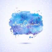 Vector watercolor background, Christmas illustration