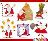 Santa Claus And Christmas Cartoon Set