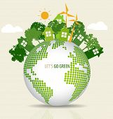foto of save earth  - Green Eco Earth - JPG