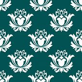 Floral arabesque seamless background pattern