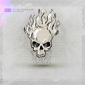 picture of cranium  - grunge print t - JPG