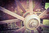Old rusty wheel