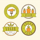 image of food label  - Vegan food badges - JPG