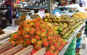 Rambutan, Lat. Nephelium Lappaceum At Street Market