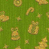 Seamless Christmass pattern with same symbols