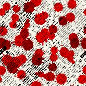 Imitation of newspapers, stained with blood