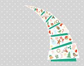 New Year and Christmas fir tree with decorations