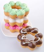 pic of donut  - Donuts on the background. Donut Colorful Donuts on the background