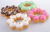 image of donut  - Donuts on the background - JPG
