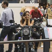 People At Eicma 2014 In Milan, Italy