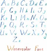 Watercolor vector alphabet