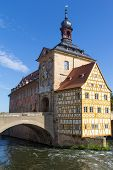foto of regnitz  - The historical town hall of Bamberg in Bavaria