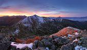 Tatra Mountain At Sunset