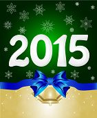 Happy New Year 2015 From Snow. Vector