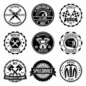 Motorcycle racings emblems