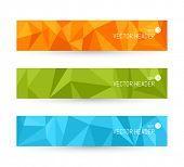 Vector banner backgrounds. Website header set