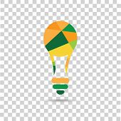 Color bulb on the checkered background.