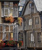 Medieval Timber-framed Buildings In Dinan