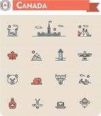 picture of wigwams  - Set of the Canada traveling related icons - JPG