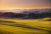 foto of senesi  - Tuscany rolling hills on sunset - JPG
