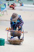 image of peddlers  - Rayong Koh Samet Thailand  - JPG