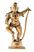 picture of goddess  - a bronze hindu goddess statuette isolated over a white background - JPG