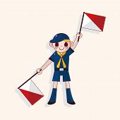 image of boy scout  - Scout Theme Elements - JPG