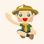stock photo of boy scouts  - Scout Theme Elements - JPG