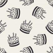 stock photo of fancy cake  - Doodle Cake - JPG