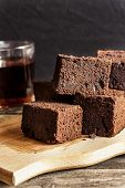 pic of guinness  - chocolate brownie with dark beer on a black background - JPG