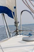 picture of yachts  - Piece of yacht close up - JPG