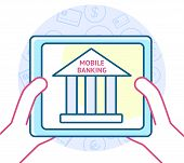 pic of electronic banking  - Online banking concept - JPG