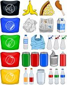 ������, ������: Food Bottles Cans Paper Trash Recycle Pack