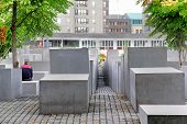 foto of murders  - The Memorial to the Murdered Jews of Europe in Berlin Germany - JPG