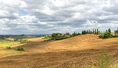 image of senesi  - Crete senesi characteristic landscape in province of Siena  - JPG