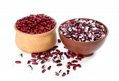 picture of phaseolus  - Two bowls with beans - JPG