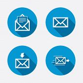Постер, плакат: Mail envelope icons Message document symbols