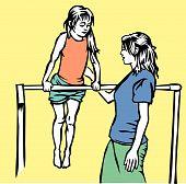 gymnastics education: horizontal bar