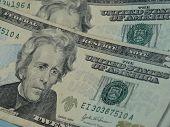 pic of twenty dollars  - twenty dollar bill useful as money concept - JPG