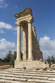 pic of cultural artifacts  - Ruins of the Sanctuary of Apollo Hylates near Limassol Cyprus - JPG
