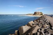 image of lighthouse  - Nobbys Lighthouse  - JPG