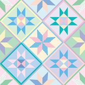 Seamless Patchwork Quilt Pattern Background