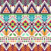 image of tribal  - Tribal seamless background - JPG