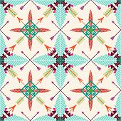 picture of tribal  - Tribal seamless background - JPG