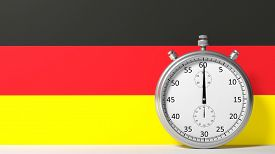 stock photo of chronometer  - Flag of Germany with chronometer - JPG