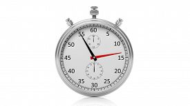 picture of chronometer  - Silver clock chronometer - JPG