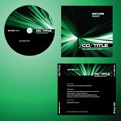 CD cover design with copy space, vector