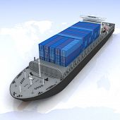 stock photo of container ship  - cargo ship - JPG