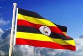 Uganda Flag (Clipping Path)